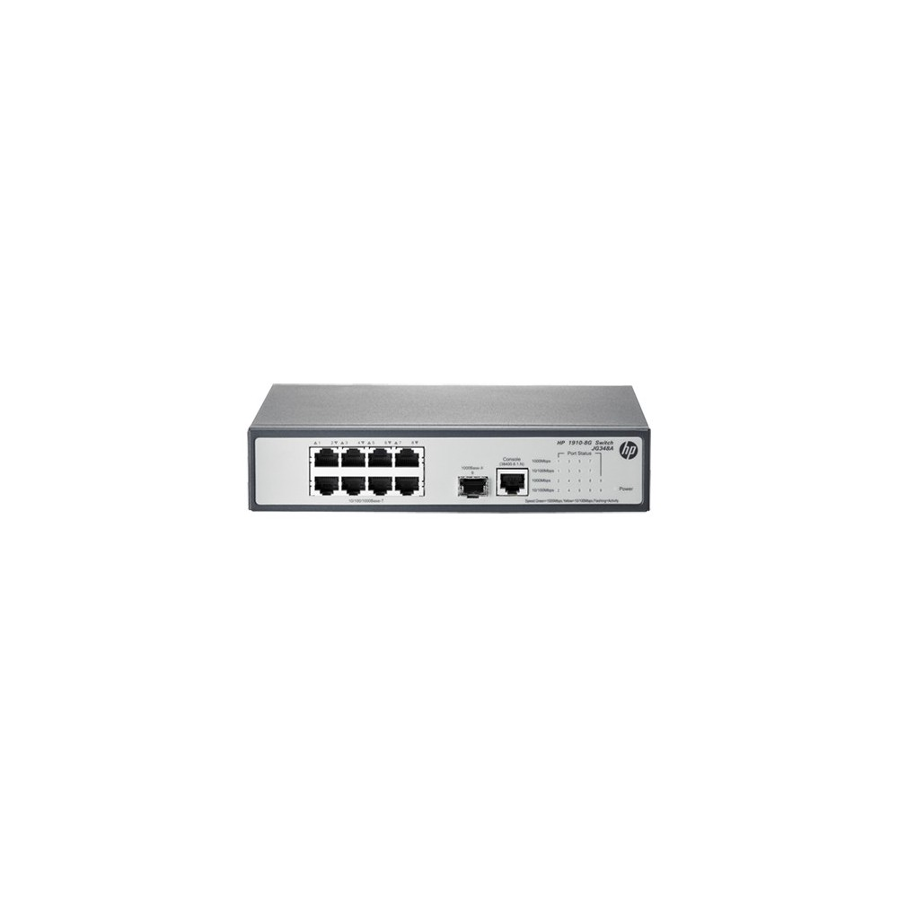 HP 1910-8G V2 Switch 8 ports 10/100/1000 + 1 port SFP (Réf HP : JG348A)
