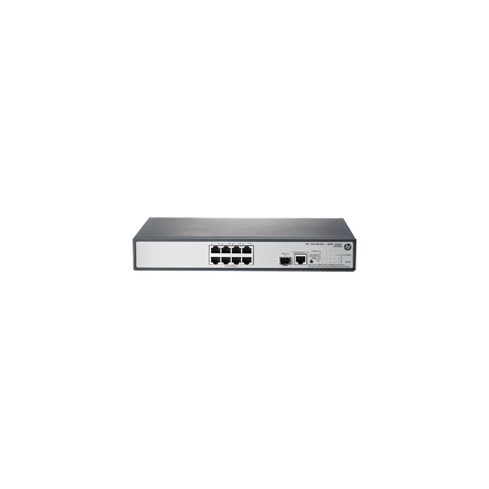 HP 1910-8G-PoE (65W) Switch 8 ports PoE 10/100/1000 (Réf HP : JG349A)